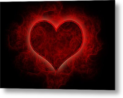 Heart's Afire Metal Print by Beverly Stapleton