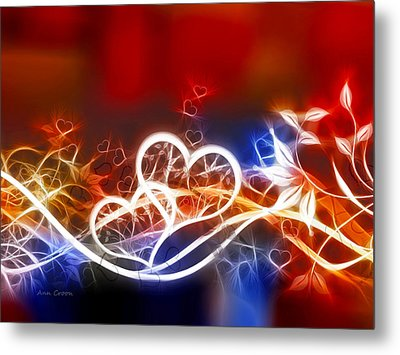 Hearts Metal Print by Ann Croon