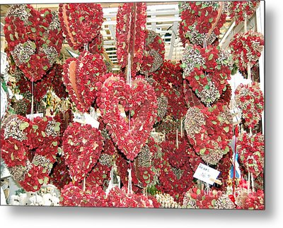 Heart's Full Of Flowers Metal Print by Linda Prewer