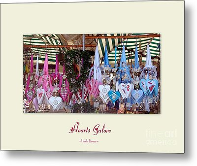 Metal Print featuring the photograph Hearts Galore by Linda Prewer