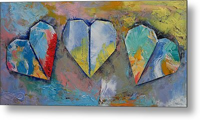 Hearts Metal Print by Michael Creese