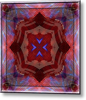 Metal Print featuring the photograph Hearts Of Bright by Barbara MacPhail