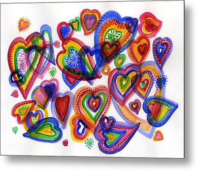 Hearts Of Colour Metal Print