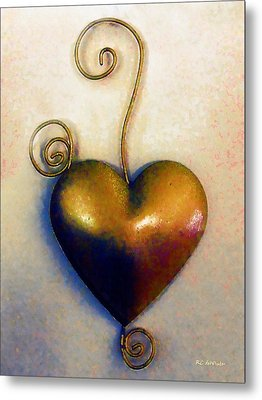 Heartswirls Metal Print