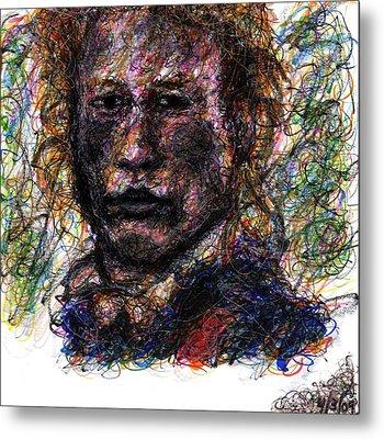 Heath Ledger As Gabriel Martin - The Patriot Metal Print by Rachel Scott