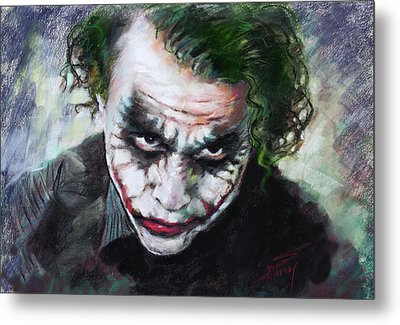 Heath Ledger The Dark Knight Metal Print by Viola El