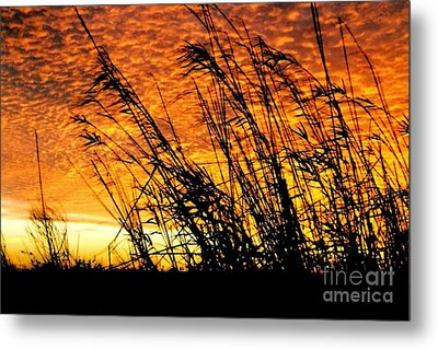 Sunset Heaven And Hell In Beaumont Texas Metal Print