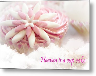 Heaven Is A Cupcake Metal Print by Terri Waters