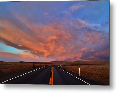 Metal Print featuring the photograph Heavenly Clouds by Lynn Hopwood