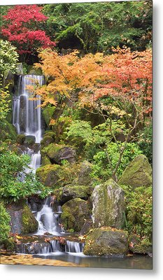 Heavenly Falls And Autumn Colors Metal Print by William Sutton