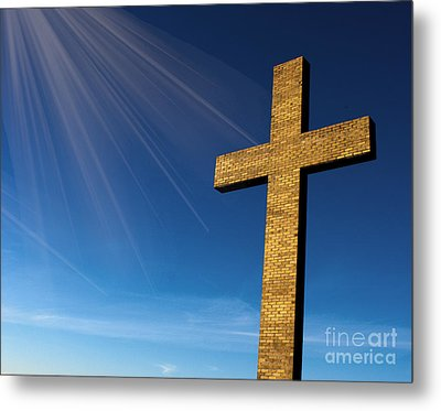 Heaven's Cross Metal Print