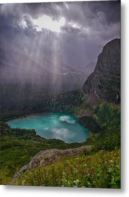 Metal Print featuring the photograph Heavens Open by Rob Wilson