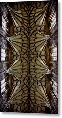 Heavenward -- Winchester Cathedral Ceiling Metal Print by Stephen Stookey