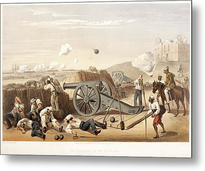 Heavy Day In The Batteries Metal Print by British Library