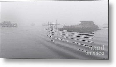 Heavy Fog And Gentle Ripples Metal Print by Marty Saccone