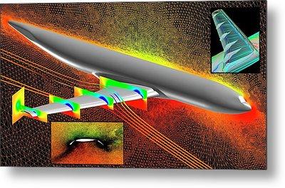 Heavy-lift Transport Aircraft Simulation Metal Print