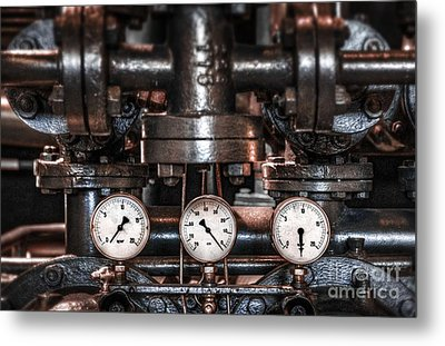 Heavy Machinery Metal Print