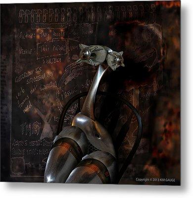 Metal Print featuring the digital art Heavy Metal Girl by Kim Gauge