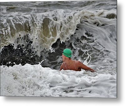 Heavy Surf - Lifeguard Competition Metal Print by Kim Bemis