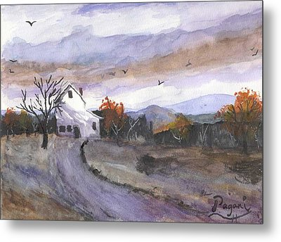 Hebo Farmhouse Metal Print by Chriss Pagani