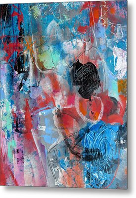 Metal Print featuring the painting Hectic by Katie Black