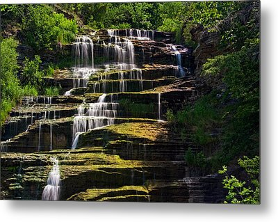 Metal Print featuring the photograph Hector Falls by Dave Files