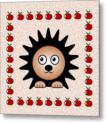 Hedgehog - Animals - Art For Kids Metal Print