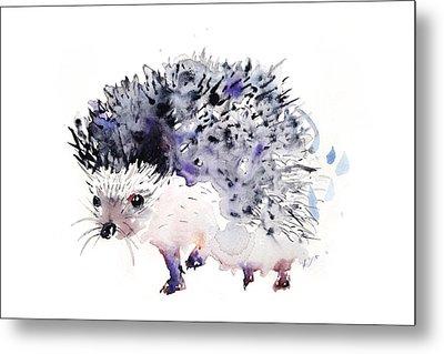 Hedgehog Metal Print by Krista Bros