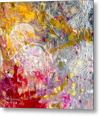 Metal Print featuring the painting Hedonic by Ron Richard Baviello