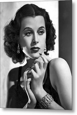Hedy Lamarr - Beauty And Brains Metal Print by Daniel Hagerman