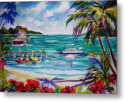 Heeia Bay Pier On Oahu Metal Print by Therese Fowler-Bailey