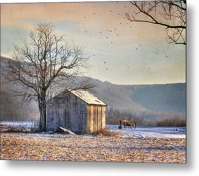 Hegins Horse Stable Metal Print by Lori Deiter