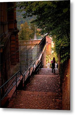 Metal Print featuring the photograph Heidelberg Stairway by Jim Hill