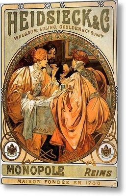 Heidsieck Champagne Poster Advert Metal Print by Philip Ralley