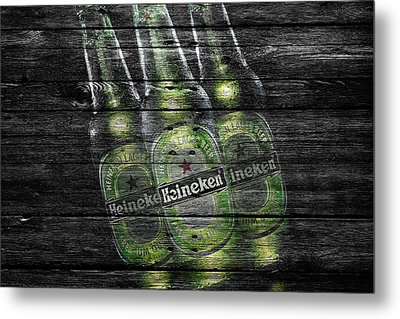 Heineken Bottles Metal Print by Joe Hamilton