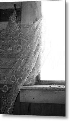 Held Up On Wind Metal Print by Empty Wall