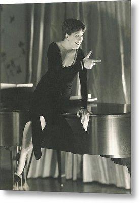 Helen Morgan Pointing Metal Print