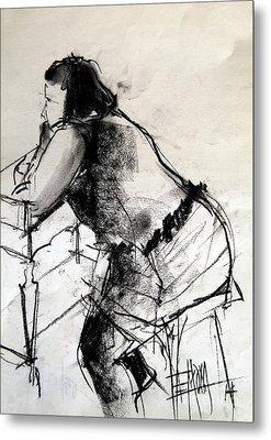 Helene #2 - Figure Series Metal Print by Mona Edulesco
