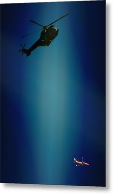 Helicopter Blues Metal Print