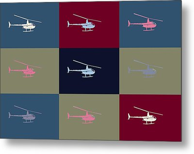 Helicopter  Metal Print by Tommytechno Sweden