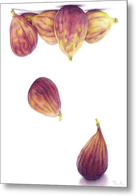 Helium Figs Metal Print by Paula Pertile