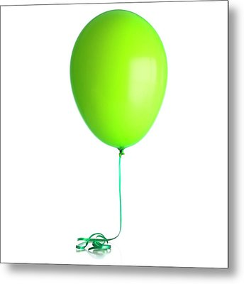 Helium-filled Balloon Metal Print by Science Photo Library