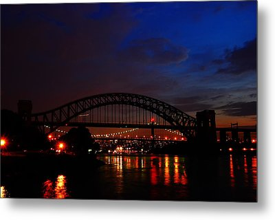 Hell Gate At Night Metal Print
