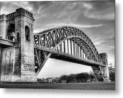 Hell Gate Bw Metal Print by JC Findley