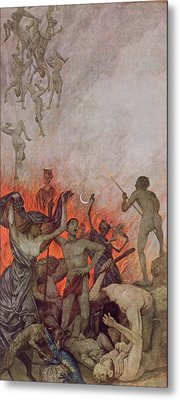 Hell Metal Print by Hans Thoma