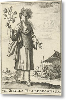 Hellespontic Sibyl, Jan Luyken, Timotheus Ten Hoorn Metal Print by Jan Luyken And Timotheus Ten Hoorn