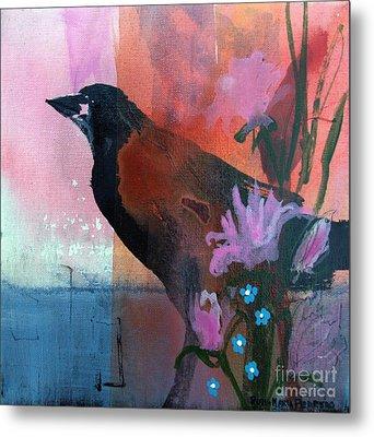 Hello Crow Metal Print by Robin Maria Pedrero