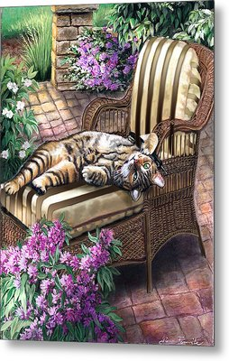 Hello From A Kitty Metal Print by Regina Femrite