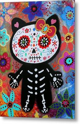 Hello Kitty Dia De Los Muertos Metal Print
