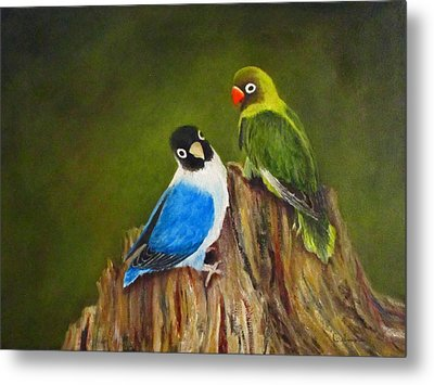 Metal Print featuring the painting Hello by Roseann Gilmore